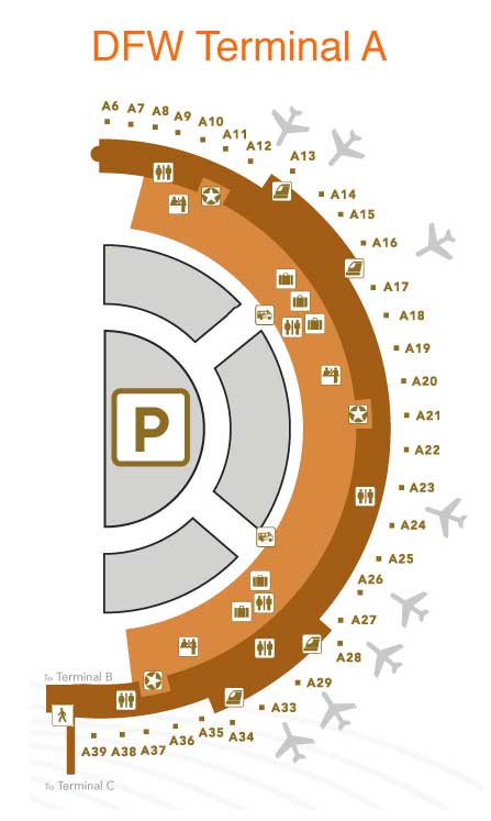 Dallas Fort Worth Airport DFW Terminal Maps